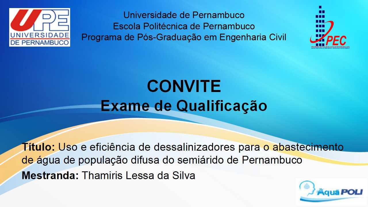 Exame de Qualificação em 15.12.2020 - Mestranda Thamiris Lessa da Silva